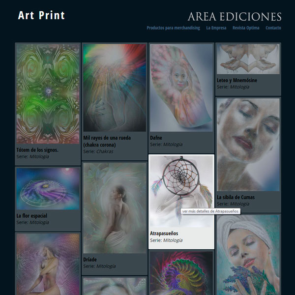 Online catalog of digital illustrations of the publishing house Areaediciones