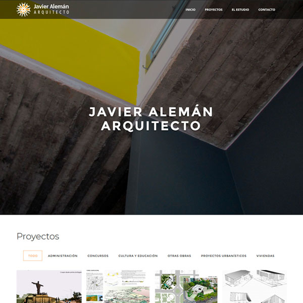 Website for Javier Alemán Arquitecto
